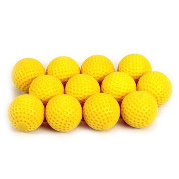 Commercial Bargains Inc 12 Pack Yellow Dimpled Pitching Machine Extra Hard Baseballs Training 9