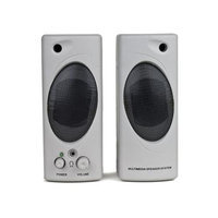 2-Piece Multimedia Stereo Speaker Set (Gray)