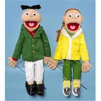 Sunny Toys GS2501 28 In. Boy In Green Jacket Sculpted Face Puppet