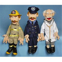 Sunny Toys GS2704 28 In. Two-Handed Fireman Sculpted Face Puppet