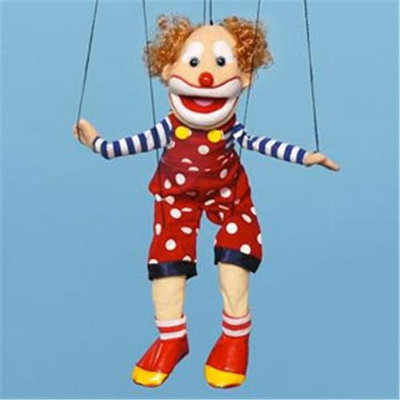 Sunny Toys WB1904 22 In. Clown Bald-Headed Marionette People Puppet