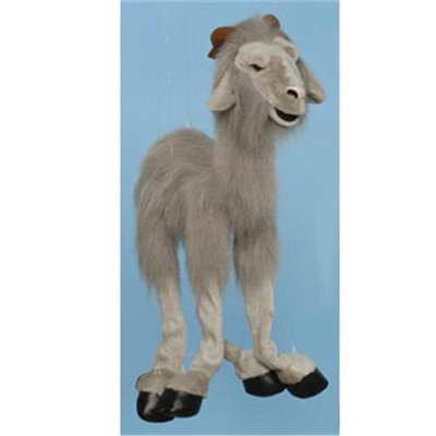 Sunny Toys WB991B 38 In. Four-Leg Large Marionette Goat - Grey