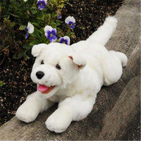 Sunny Toys NP8047T 10 In. Puppy - White Lying Animal Puppet