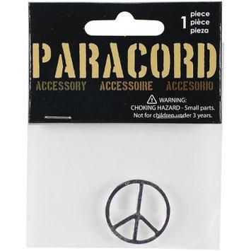 Midwest Design Paracord Charm -Silver Peace 1/Pkg