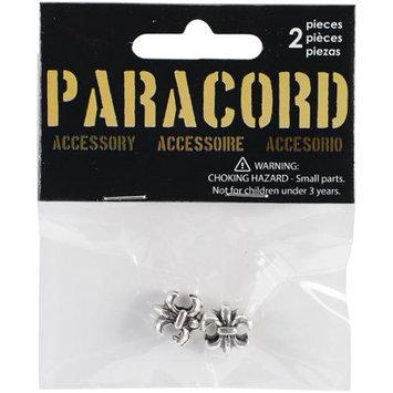 Midwest Design Paracord Charm-Silver Fleur Di Lis Slider 2/Pkg