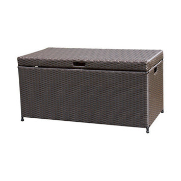 Wicker Lane Outdoor Espresso Wicker Patio Furniture Storage Deck Box