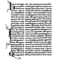Crafty Individuals Unmounted Rubber Stamp 4.75inX7in Pkg Medieval Manuscript