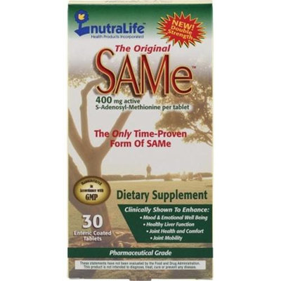 Nutralife, The Original Same, 400 Mg, 30 Enteric Coated Tablets