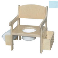 Little Colorado 028PB Handcrafted Potty Chair with Accessories in Powder Blue