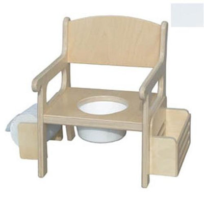 Little Colorado 028SW Handcrafted Potty Chair with Accessories in Solid White