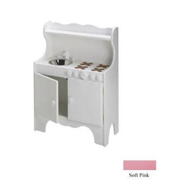 Little Colorado 092SWSP Kids Kitchen - Solid White with Pink Doors