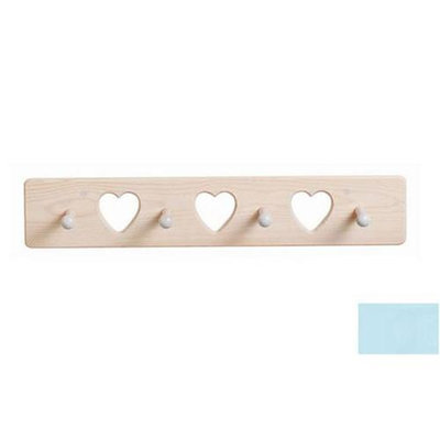 Little Colorado 1214PBHT Heart Peg Rack in Powder Blue