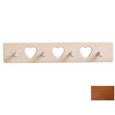 Little Colorado 1214HOHT Heart Peg Rack in Honey Oak