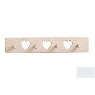 Little Colorado 1214SWHT Heart Peg Rack in Solid White