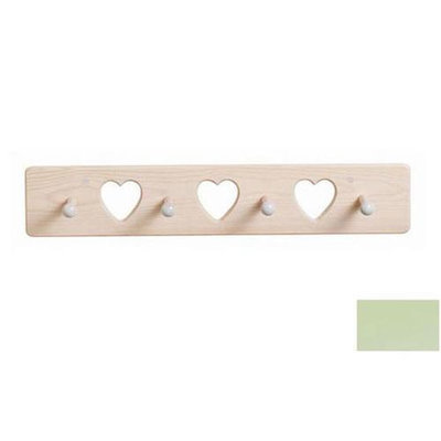 Little Colorado 1214PGHT Heart Peg Rack in Pastel Green