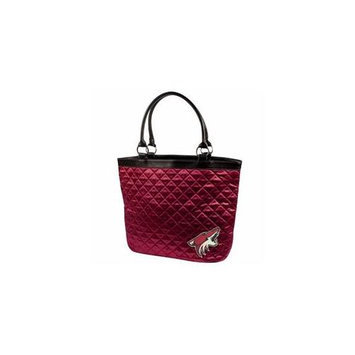 Little Earth LTL-550101-COYT-DRED Arizona Coyotes NBA Quilted Tote - Dark Red