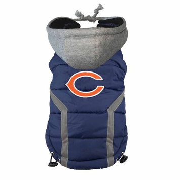 Ec Team Apparel Chicago Bears Dog Hoodie Vest - S