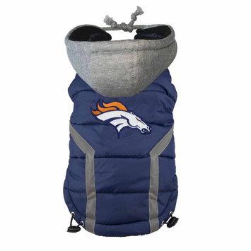 Ec Team Apparel Denver Broncos Dog Hoodie Vest - XL