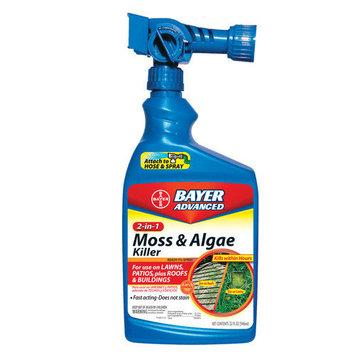 Bayer 2 In 1 Moss and Algae Killer Ready To Spray, 32-ounce