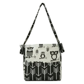 Brownie Gifts Black and White Owl Diaper Bag