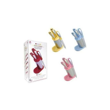 Dollar Days 6 Piece Stainless Steel Knife Block (Pack of 6)