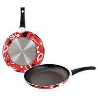 Bulk Buys 8 in. Designer Fry Pan - Red Paisley - Pack of 8