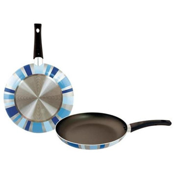 Bulk Buys 11 in. Designer Fry Pan - Blue Prism - Pack of 8