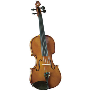 Saga Cremona Novice 1/10-Size Violin Outfit in Opaque Warm Brown