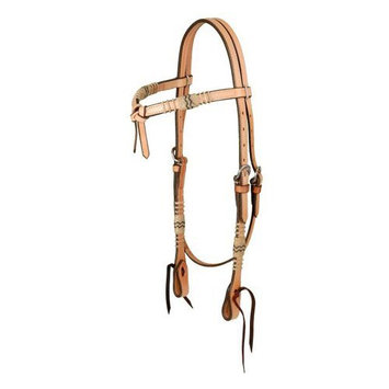 Jt Intl Distributers Inc Royal King Futurity Headstall with Braided Rawhide Medium Oil