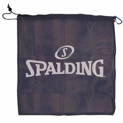 Spalding 8422S Single Ball Mesh Carrier, Black w- White Spalding Logo