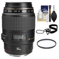 Canon EF 100mm f/2.8 Macro USM Lens with UV Filter + Accessory Kit