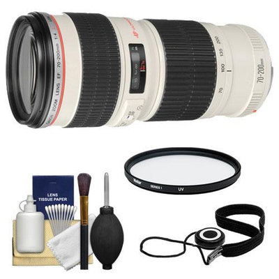 Canon EF 70-200mm f/4 L USM Zoom Lens with UV Filter + Accessory Kit