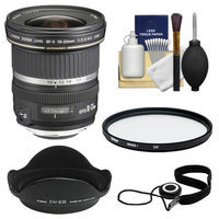 Canon EF-S 10-22mm f/3.5-4.5 USM Ultra Wide Angle Zoom Lens with EW-83E Hood + UV Filter + Accessory Kit