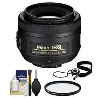 Nikon 35mm f/1.8 G DX AF-S Nikkor Lens with 52mm UV Filter + Cleaning Kit