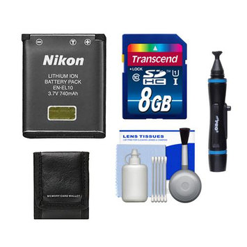 Nikon EN-EL10 Rechargeable Li-ion Battery with 8GB SD Memory Card + Accessory Kit
