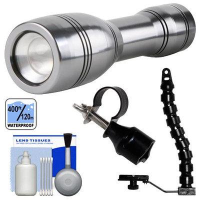 Intova LED Mini Torch Flashlight / Video Light with Flex Arm + Adapter + Cleaning Kit