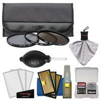 Hoya 67mm 3-Piece Digital Filter Set (HMC UV Ultraviolet, Circular Polarizer & ND8 Neutral Density) with Case + Nikon Cleaning Kit for Nikon 16-85mm VR DX, 18-105mm VR AF-S, 18-200mm G VR II DX, 70-300mm VR Lens with HOYA USA Warranty