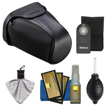 Nikon CF-DC3 Semi-Soft Digital SLR Camera Holster Case for D7000 with Shutter Release Remote + Nikon Cleaning Accessory Kit