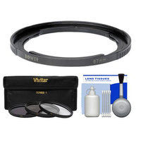 Bower Adapter Tube for Canon PowerShot SX30 IS Digital Camera (67mm) with 3 (UV/CPL/FLD) Filters + Cleaning Kit