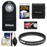 Nikon ML-L3 Wireless Infrared Shutter Release Remote Control for Nikon 1 V2 V1 J1 J2 with 40.5mm UV Filter + Accessory Kit