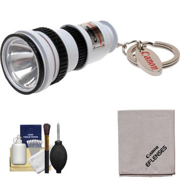 Canon OIS Lens LED Flashlight Keychain with Canon Cloth & 6pc Cleaning Kit