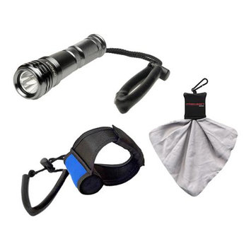 Intova LED Compact Torch Flashlight / Video Light with Torch Handstrap + Spudz Cleaning Cloth