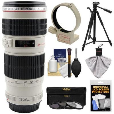 Canon EF 70-200mm f/4 L USM Lens + 3 Filters + Ring Collar + Tripod + Kit