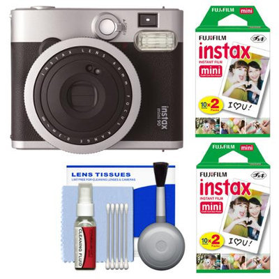 Fujifilm Instax Mini 90 Neo Classic Instant Film Camera with (2) Instant Film + Cleaning Kit