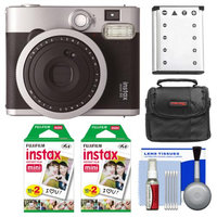Fujifilm Instax Mini 90 Neo Instant Camera + 40 Film + Case + Batt + Kit