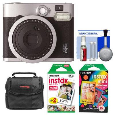 Fujifilm Instax Mini 90 Neo Classic Instant Camera + Rainbow Film Packs + Kit