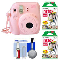 Fujifilm Instax Mini 8 Instant Film Camera (Pink) with (2) Instant Film + Cleaning Kit