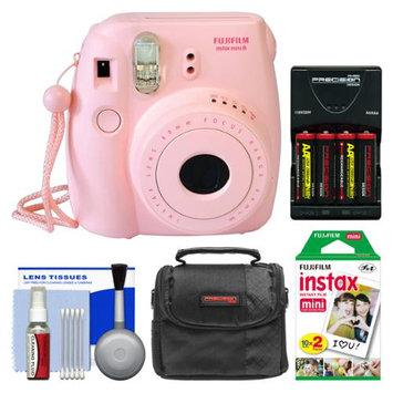 Fujifilm Instax Mini 8 Instant Camera Pink + 20 Film + Case + (4) Batt + Kit