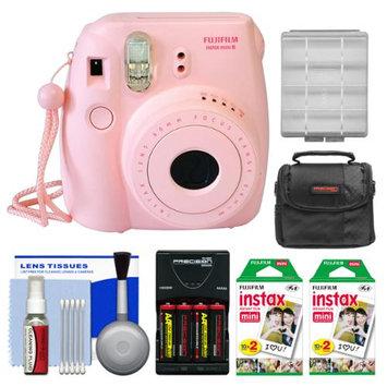 Fujifilm Instax Mini 8 Film Camera Pink + 40 Film + Kit