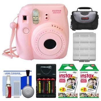 Fujifilm Instax Mini 8 Instant Camera Pink + 40 Film + Case + Batt + Kit
